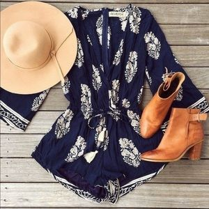 Pants - Gorgeous Navy beach Cover up/romper